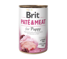 Brit Paté & Meat Chicken & Turkey for Puppy 400 g