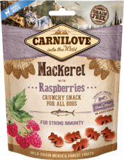 Carnilove Dog Crunchy Snack Mackerel & Raspberries 200 g