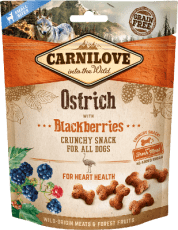 Carnilove Dog Crunchy Snack Ostrich & Blackberries 200 g
