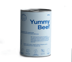 buddy pet food yummy beef